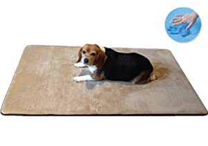 Amazon.com : Dogbed4less Washable Memory Foam Coral Fleece