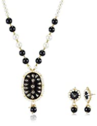 Ava Traditional Jewellery Set For Women (Black) (S-GA-7501)