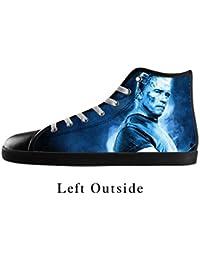JIUDUIDODO The Terminator Men S High Top Lace Up Black Breathable Canvas Shoes - B01B2QCJQI