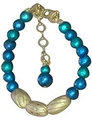 Eco Friendly Beautiful Blue Beaded Terracotta Bracelet