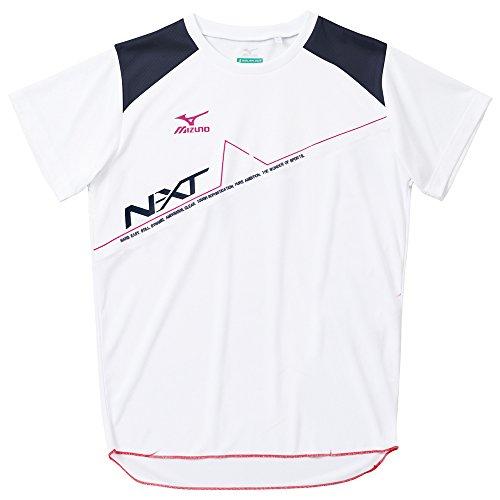 (ミズノ)MIZUNO 陸上競技 プラクティスシャツ U2MA5083 01 ホワイト×ドレスネイビー×ベリーピンク L