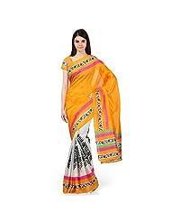 Janasya Women's Multi-coloured Bhagalpuri Silk Printed Sarees - B010WXOTR4