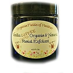 Organic Fields Of Heather Organic Vanilla Coffee Facial Exfoliant, 4 fl. oz.