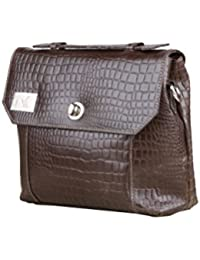 VRSR Women Stylish Casual, Formal & Party Genuine Leather Brown Sling Bag