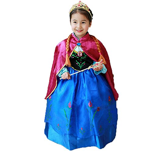 Princess Anna Lace Paisley Chiffon Cosplay Costume Play Long Dress for Girls Kids (3T) · Disguise Disneyu0027s Frozen ...  sc 1 st  Not So Scary Halloween for Kids & Frozen Halloween Costumes Kids LOVE-- Because we Canu0027t LET IT GO!!