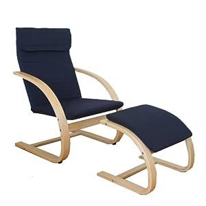 Homestyle4u Schwingsessel Freischwinger Sessel mit Hocker