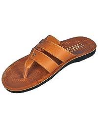 Venus PU Orange Color Sandals For Men - (PU-1614)