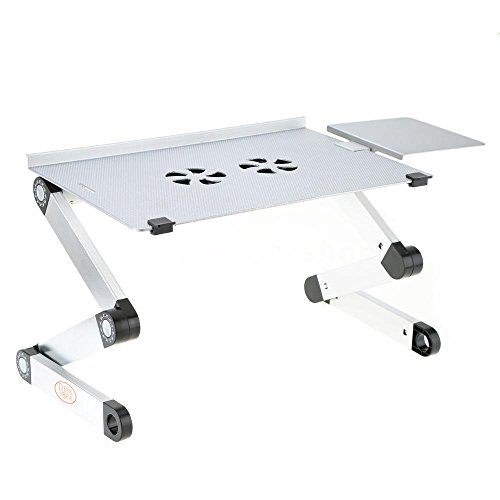 Modern Style Vented & Portable Laptop Table By Desk York - Adjustable...