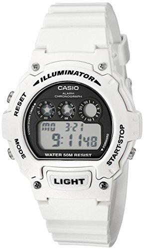 Casio Kids W-214HC-7AVCF Classic Digital Display Quartz Whit