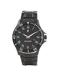 Swiss Trend Elegant Black Dial Mens Watch. (Artshai-1646-Roman)