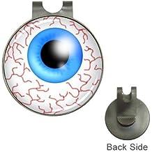 Blue Skies Plus Blood Shot Eyeball Magnetic Golf Ball Marker Hat Clip