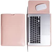 WALNEW Sleek Leather MacBook Air 13 Inch Protective Soft Sleeve Case Cover Macbook Pro Retina 13 Inch Carry Bag...