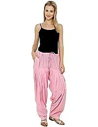 Fashion Store Women's Cotton Patiala Bottoms (APSBP_Baby Pink_Free Size)
