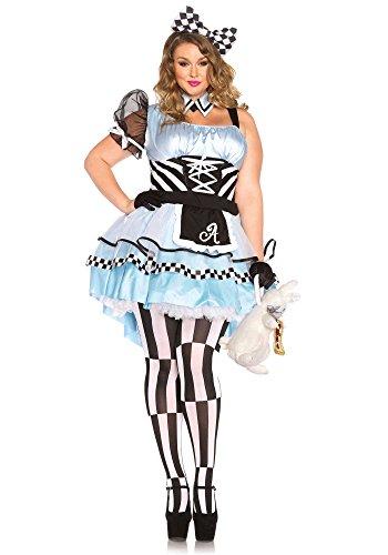 Halloween 2017 Disney Costumes Plus Size & Standard Women's Costume Characters - Women's Costume CharactersLeg Avenue Women's Plus-Size Psychedelic Alice Costume, Blue/Black
