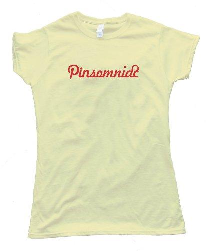 Womens PINTEREST PINSOMNIAC – Tee Shirt Gildan Softstyle Light Yellow (Small)