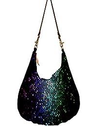 Multicolor Honey Bee Pattern Obo, Ethnic Hobo Bag, Aztec Hobo Bag, Native Style Bag, Large Hobo Bag, Zipper Closure...