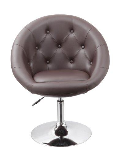 Sessel in BRAUN höhenverstellbar Kunstleder Clubsessel Coctailsessel Loungesessel fauteuil Armchair Model Nr. 0333