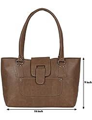 Kacey::Kacey Brown Shoulder Bag::Kacey Shoulder Bag::Plain Shoulder Bag::Women Shoulder Bag::PU Shoulder Bag::...