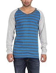 Dk Clues Men's V-neck Cotton T-Shirt