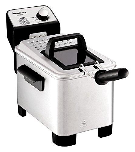 Moulinex Easy Pro 3 L - Freidora clásica (2300 W, 2 niveles de cocción, termostato regulable, 2 L / 600 gr), plata