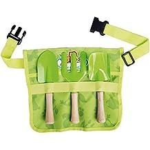 Esschert Design USA KG108 Children's Garden Apron With Tools, Green