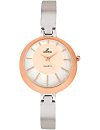 LUCERNE Analogue White Designer Dial Silver Metal Strap Gift Watches For Women A Modern Ladies Watch Summer Sale...