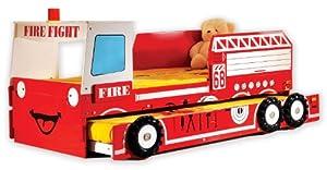 Feuerwehrbett ROT Autobett Kinderbett Doppelbett Spielbett