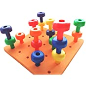 Peg Board Set - Fine Motor Toy For Toddlers And Preschoolers - Free 20+ Activity Download Occupation