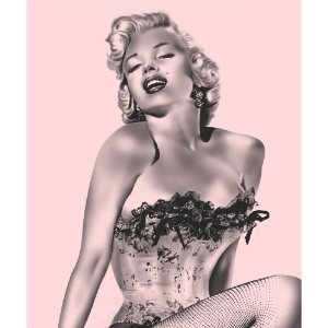 Marilyn Monroe Pink Fishnet Fleece Throw Blanket