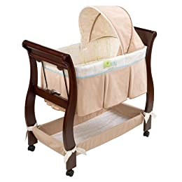 Product Image Just One Year Chocolate/Tan Wood Bassinet