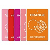 Edelcrafts Car Home Office Paper Hanging Air Freshener (Buy 4 Get 5) - FREE SHIPPING - Choice: Orange, Peach,...