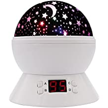 [UPGRADE] MOKOQI Rotating Star Sky Projection Night Lights Toys Table Lamps With Timer Shut Off & Color Changing...
