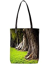 Snoogg Huge Tress Womens Digitally Printed Utility Tote Bag Handbag Made Of Poly Canvas With Leather Handle