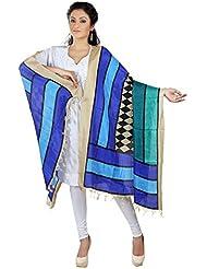 RangReza Blue Printed Cotton Dupatta/ Stoles