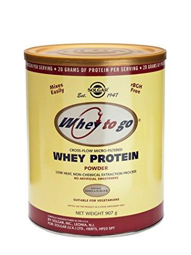 Solgar - Whey Protein Powder Natural Vanilla, 32 oz powder