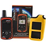 DeLorme InReach Explorer Two-Way Satellite Communicator With Built In Navigation With A YELLOW Flotation Case...
