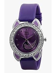 Watch Me Purple Leather Analogue Watch For Women WMAL-091-PR - B01KIENKM2