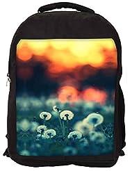 Snoogg Dandelions At Sunset Backpack Rucksack School Travel Unisex Casual Canvas Bag Bookbag Satchel - B0146GKW6K