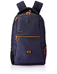 Gear 29 Ltr Navy Blue And Orange Casual Backpack (BKP0SPAC40506)