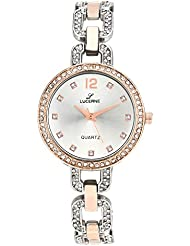 LUCERNE Analogue Silver Color Dial And Silver Color Metal Strap Watch For Women. A Modern Lady Watch.