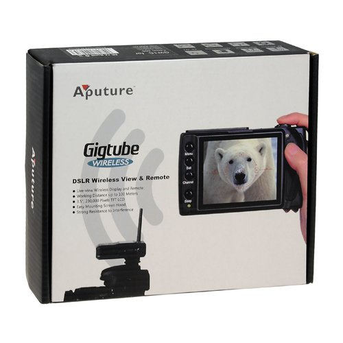 Aputure Gigtube Wireless GW3L Live View Angle Finder With Shutter Cable Release For Olympus E-400 E-410 E-420 E-450 E-510 E-520 E-620 SP-57DUZ SP-560EZ SP-550EZ SP-510EZ PEN E-PL1s E-PL2 E-PL3 E-P2 E-P3 E-M OM-D E-M5 Fully Compatible With Olympus RM-UC1
