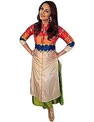 RadadiyaTRD Women's Cotton Kurti (Huma Qureshi Kurti-(A)_Multicolor _Free Size)