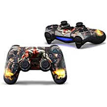 Elton PS4 Controller Designer 3M Skin For Sony PlayStation 4 DualShock Wireless Controllers (set Of Two Controllers Skin) - God Of War Painted Back
