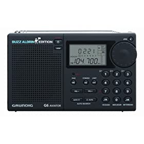 Grundig G6 Aviator Buzz Aldrin Edition AM/FM, Aircraft band and Shortwave Radio, Black