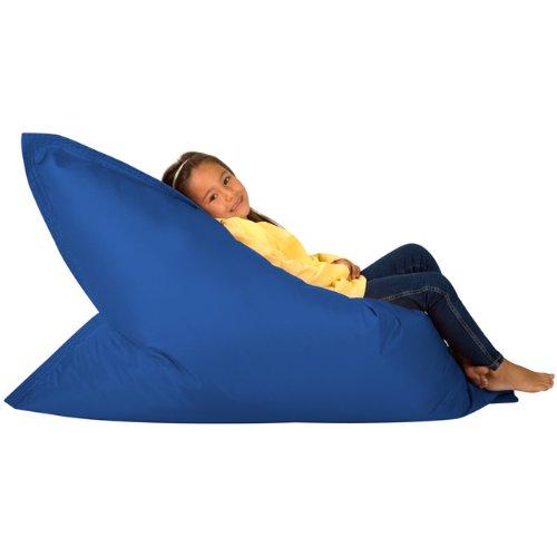Hi-BagZ® KIDS Bean Bag Vierweg Liege - RIESIGER Kinder Sitzsack Outdoor Bodenkissen BLAU - 100% Wasserabweisend