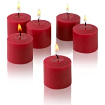 10 Hour Red Unscented Votive Candles Set Of 36 Made In USA By Light In The Dark