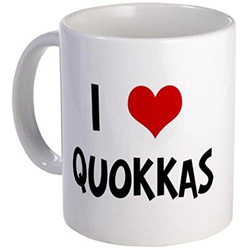CafePress Einzigartige Tasse I Love quokkas Tasse–S Weiß, keramik, Weiß, Größe S