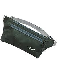 Imported Fanny Waist Belt Bag Sport Travel Camping Hiking Zip Pocket Men Dark Green