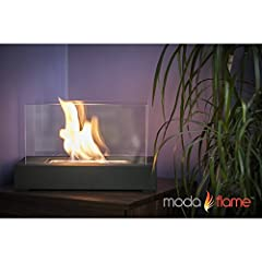 Moda Flame Vigo Ventless Table Top Ethanol Fireplace in Black