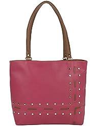 Kacey::Kacey Pink Shoulder Bag::Kacey Shoulder Bag::Designer Shoulder Bag::Women Shoulder Bag::PU Shoulder Bag...